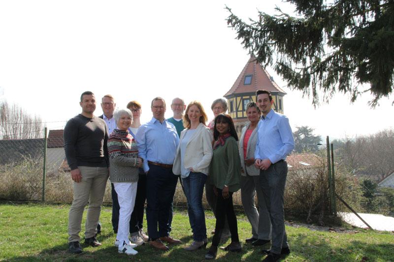 Gruppenbild des Ortsverbandes Pfeddersheim